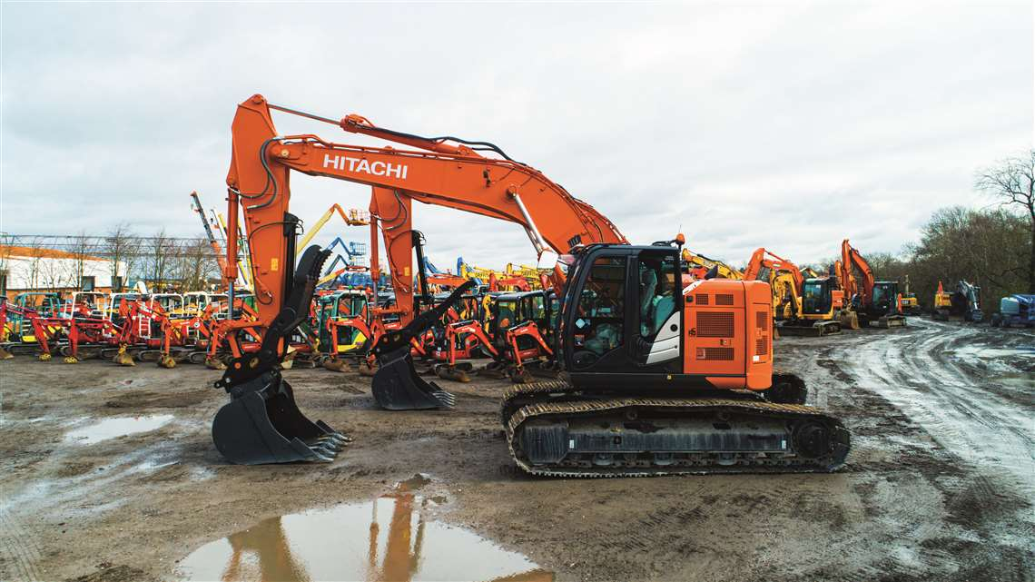 A Hitachi excavator available from Ritchie Bros